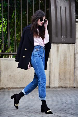 Zara shoes - Zara coat - vintage jeans - Borne shirt
