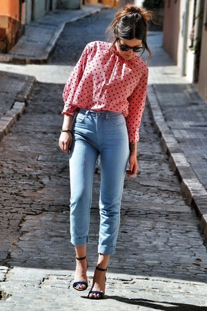 vintage blouse - Massimo Dutti heels - Fendi pants