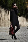 Zara-dress-mango-coat-sam-edelman-heels
