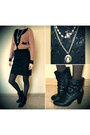 Black-centro-boots-black-oggi-dress-burnt-orange-viva-jacket
