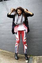Top Shop vintage blazer - union jack Religion jeans
