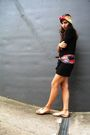 Black-h-m-dress-red-aigner-scarf-red-aigner-scarf