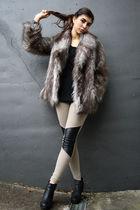 Oasis coat - H&M leggings