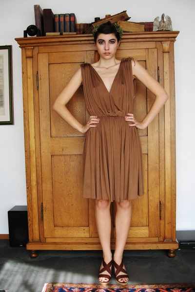 brown aigner dress - brown Bata shoes