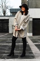 H&M boots - vintage coat - flea market hat - New Yorker necklace - Zara blouse