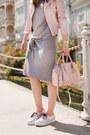 Heather-gray-sheinside-dress-light-pink-sheinside-jacket