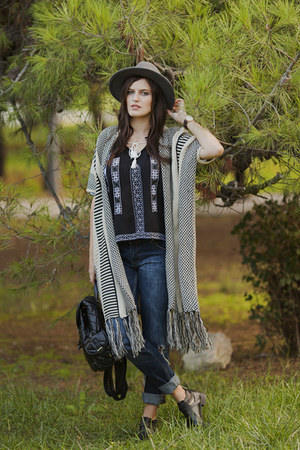 cream Yoins cardigan - black Yoins blouse
