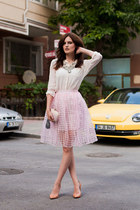 bubble gum Wholesale7 skirt - light pink TB Dress necklace