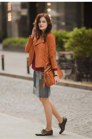 tawny shein jacket - tawny Zara bag