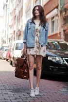 cream Wholesale7 dress - sky blue Wholesale7 jacket