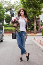 black TB Dress jacket - blue Zara jeans