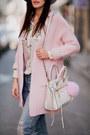 White-rebecca-minkoff-bag-white-romwe-blouse-light-pink-sheinside-cardigan
