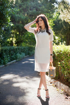 white YHF dress - white YHF bag