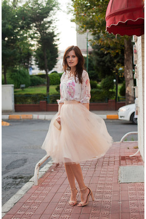 cream alexandra grecco skirt