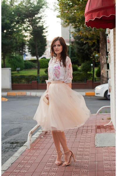 cream alexandra grecco skirt