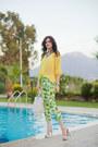 Lime-green-black-five-pants-yellow-h-m-blouse