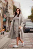 silver Sheinside dress - silver Sheinside coat