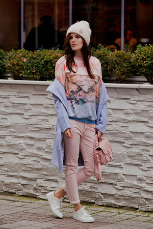 violet The wild flowers shop coat - light pink Mango jeans