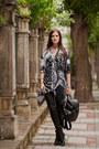 Silver-religion-shirt-black-les-eclaires-pants