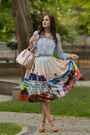 Sky-blue-sheinside-blouse-coral-chicwish-skirt