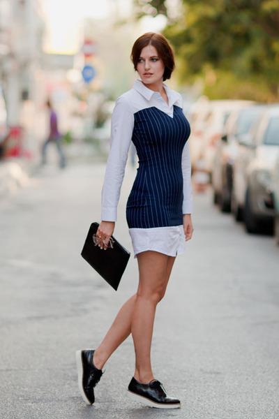 navy style moi dress