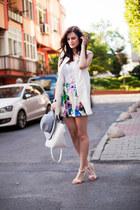 white Black Five shorts - silver asos hat - white PERSUNMALL vest