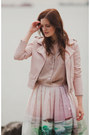 Light-pink-sheinside-jacket-light-pink-chicwish-skirt