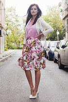 white BB Dakota jacket - light pink River Island bag - white Sheinside skirt