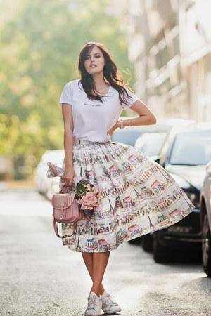 ivory Chicwish skirt - light pink River Island bag