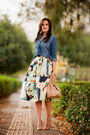 Blue-stradivarius-shirt-cream-sheinside-skirt