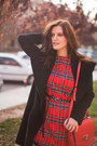 Ruby-red-sheinside-dress-black-polo-garage-coat-ruby-red-zara-bag