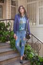 Blue-sheinside-jeans-sky-blue-sheinside-blouse