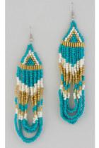 turquoise blue Vintage Modernism earrings