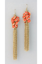 coral Vintage Modernism earrings