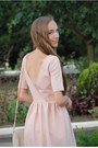 Light-pink-zara-dress-off-white-bershka-bag-peach-forever-21-necklace