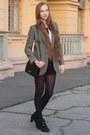 Heather-gray-mango-blazer-black-mango-bag-black-forever-21-shorts