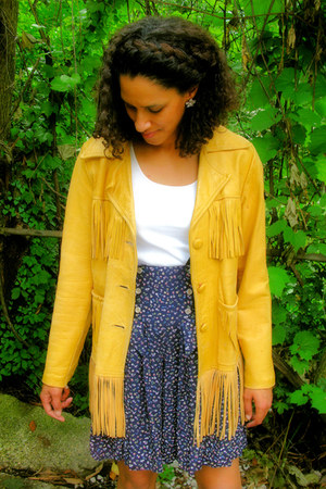 mustard leather fringe Pioneer Wear Albuquerque jacket