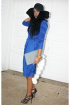 thrifted vintage dress - Bebe shoes - thrifted vintage accessories - Target acce
