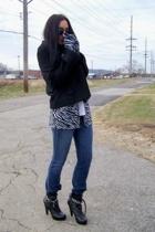 Miss Me shoes - eyeshadow shirt - BCBG coat