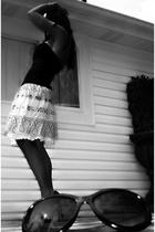 Victorias Secret shirt - f21 skirt - vintage accessories - BCBG shoes