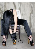 black Forever 21 pants - black Forever 21 top - black Jessica Simpson shoes - bl
