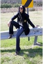 Guess jeans - navy vintage Ralph Lauren blazer - PROENZA SCHOULER sunglasses - b