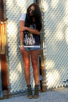 Converse shirt - vintage bracelet - Jeffrey Campbell shoes