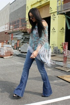 Forever 21 shoes - super flair dylan george jeans - shawl TJ Maxx