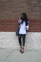 Urban Outfitters sweater - diy spiked BCBGgirls shoes - Forever21 shirt