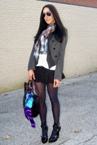 Maurizio Taiuti purse - Bakers shoes - vest - f21 skirt - f21 shirt - Betsey Joh