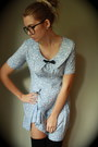 Sky-blue-floral-vintage-dress-black-ribbed-american-apparel-socks
