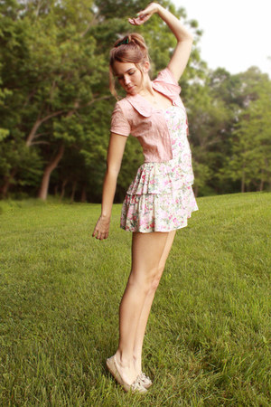 cream floral modcloth dress