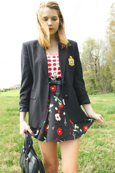 black preppy Ralph Lauren blazer
