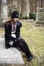 Black-bb-dakota-coat-white-forever-21-dress-bubble-gum-khols-scarf